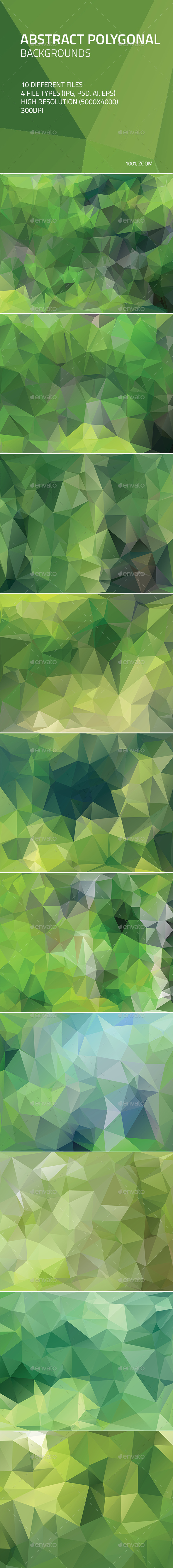 Abstract Polygonal Backgrounds 2 - Abstract Backgrounds