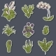 Houseplants Cartoon Stickers - GraphicRiver Item for Sale
