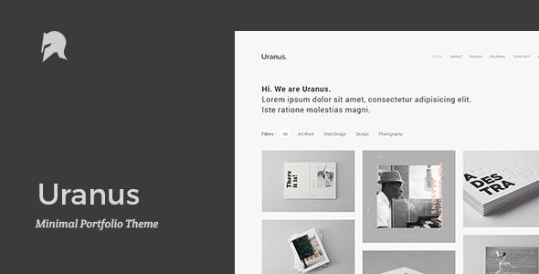 Uranus – Minimal Portfolio Theme