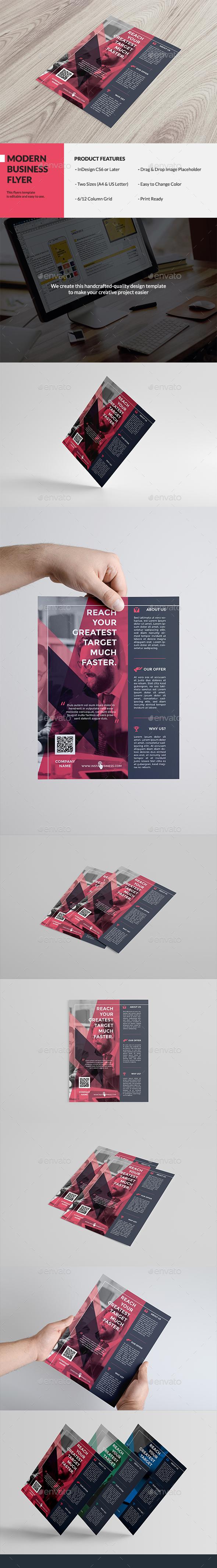 Swiss Business Flyer - Flyers Print Templates