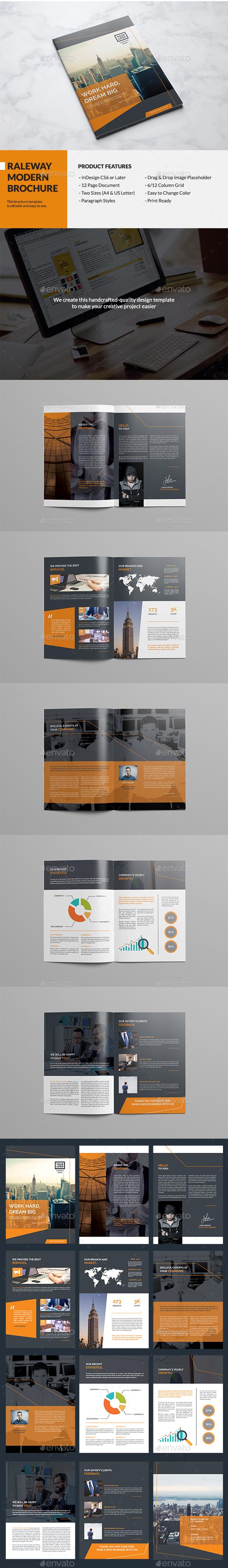 Raleway Modern Brochure - Corporate Brochures
