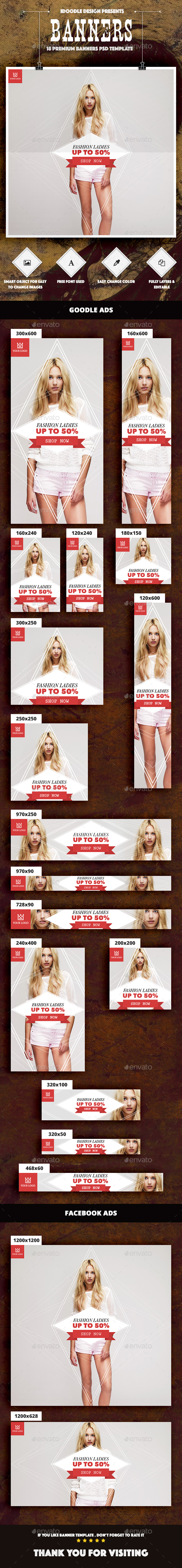 Fashion Banners Ad - Banners & Ads Web Elements