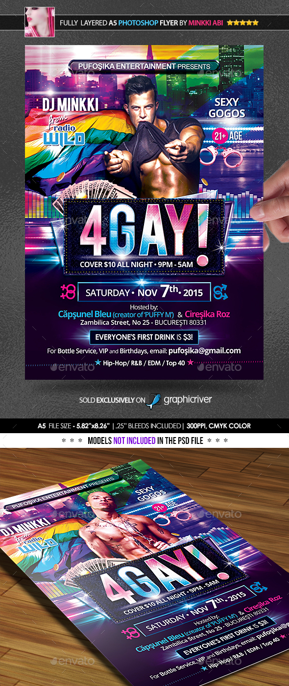4Gay Poster/Flyer - Events Flyers