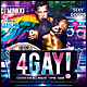 4Gay Poster/Flyer - GraphicRiver Item for Sale