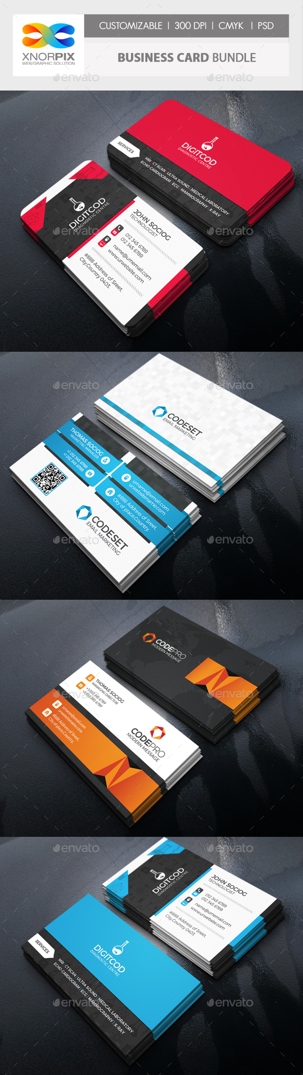 Business Card Bundle 3 in 1-Vol 63 - Corporate Business Cards