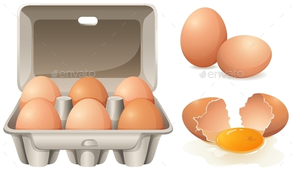 Fresh Eggs - Food Objects