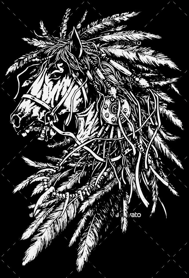 Headdress Horse
