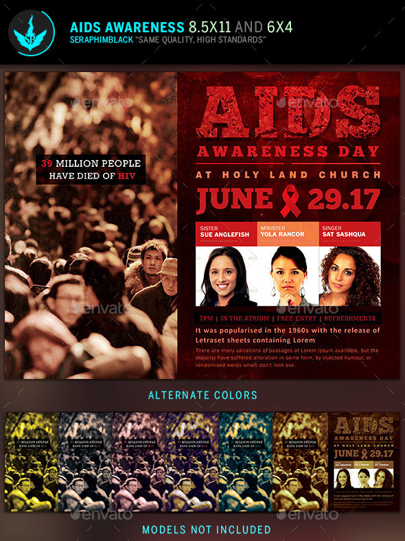 AIDS Awareness Flyer Template - Corporate Flyers