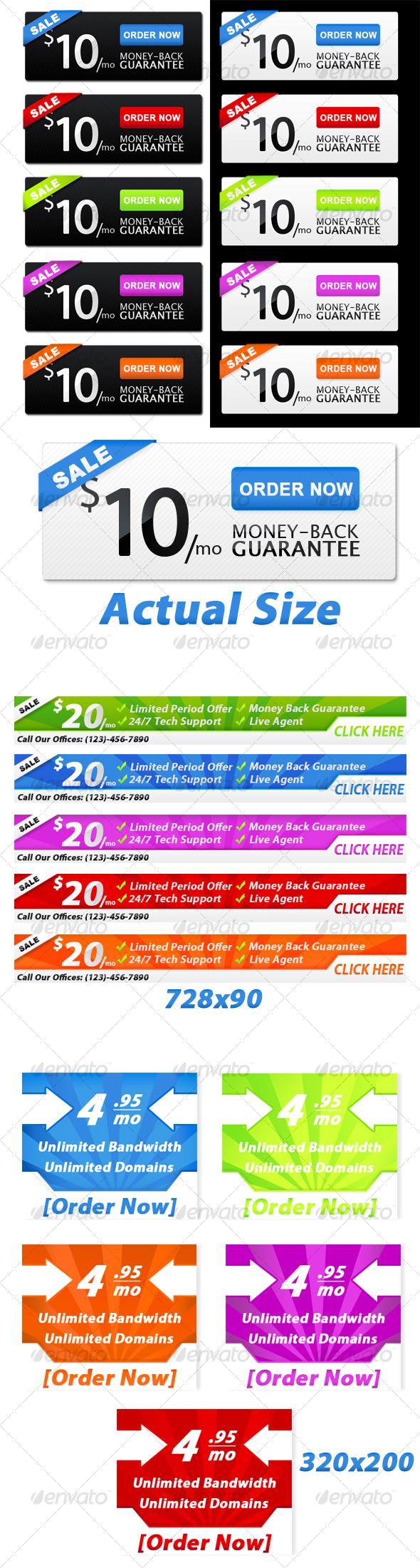 Web Banners - Web Elements