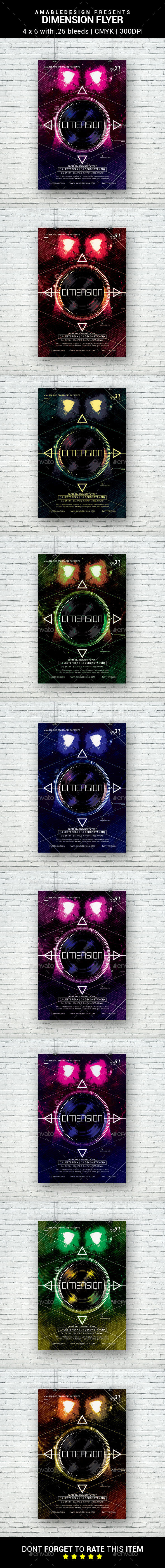 Dimension Flyer - Clubs & Parties Events