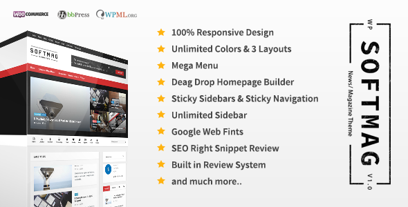 SoftMag - SEO Responsive WordPress Magazine