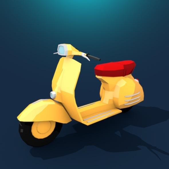Vespa Low Poly - 3DOcean Item for Sale