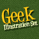 Geek Illustration Set Ver.1.0 - GraphicRiver Item for Sale
