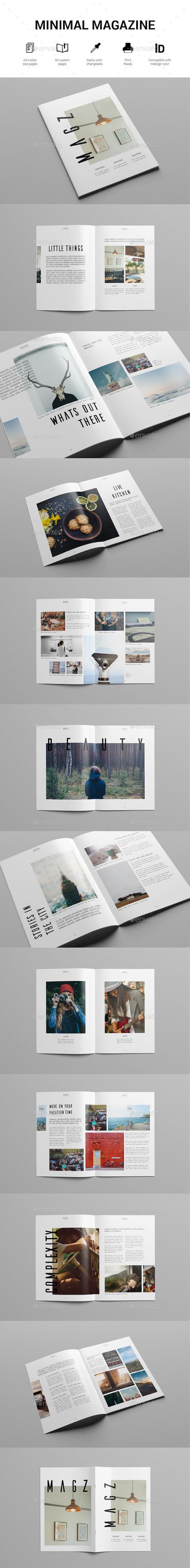 Minimal Lifestyle Magazine Template - Magazines Print Templates