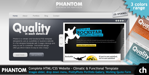 Free Download PHANTOM - Climatic and Functional HTML Template Nulled Latest Version