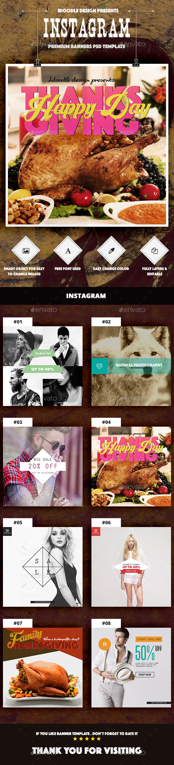 Multipurpose Instagram Ad By IDoodle GraphicRiver - Instagram ad template