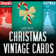 10 Christmas Vintage Cards - Backgrounds - GraphicRiver Item for Sale