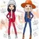 Vector Fashion Girls In Autumn Clothes - GraphicRiver Item for Sale