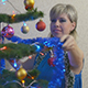 Young Woman Dresses The Christmas Tree 5 - VideoHive Item for Sale