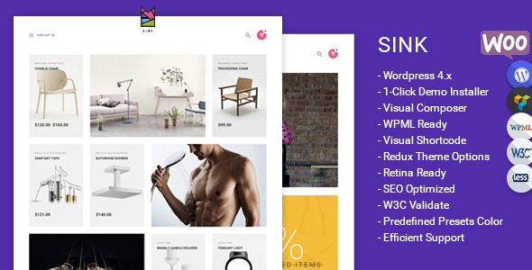 Sink – Minimal WooCommerce WordPress Theme