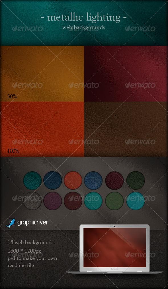 Metallic Lighting Web Backgrounds - Backgrounds Graphics