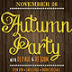 Autumn Party Flyer - GraphicRiver Item for Sale
