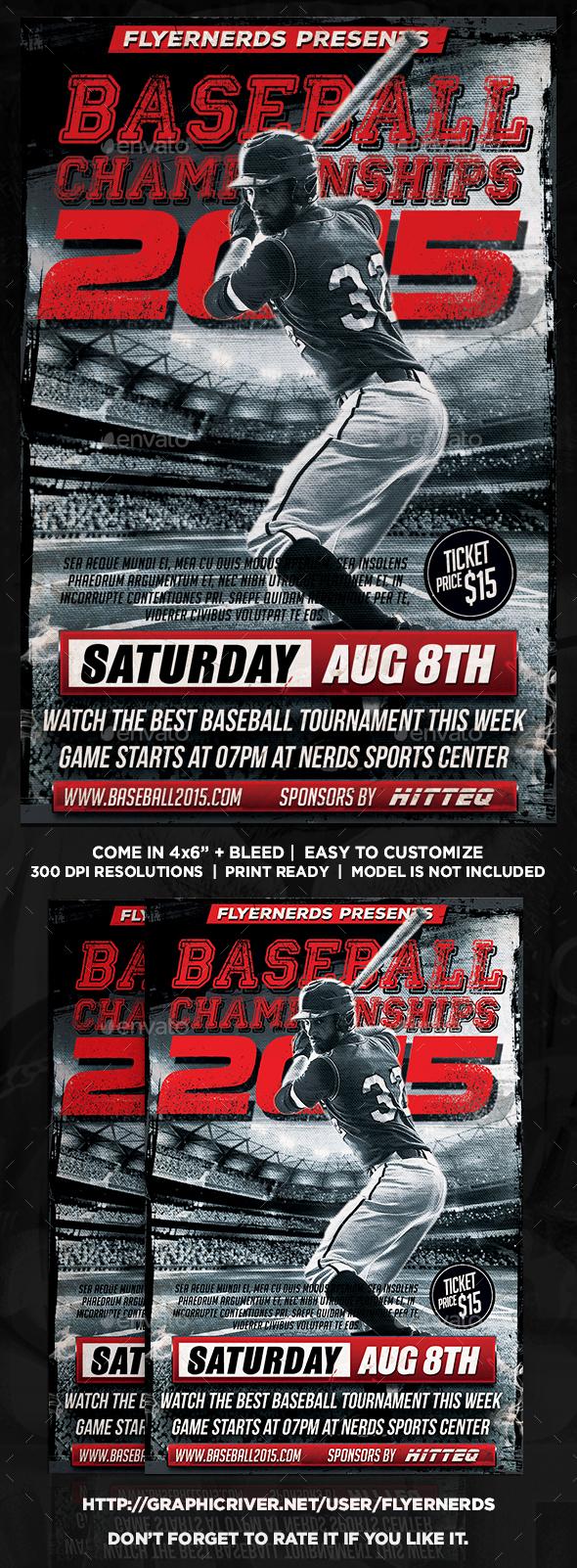 Baseball Championships 2015 Sports Flyer - Sports Events