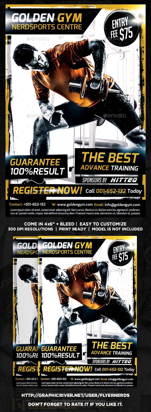 Fitness and Gym Center Sports Flyer