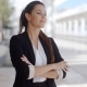 Confident Businesswoman Standing Waiting - VideoHive Item for Sale