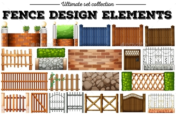Many Fence Design Elements - Miscellaneous Conceptual