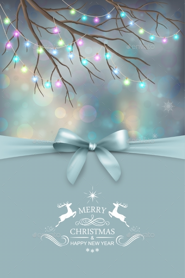 Vector Christmas And New Year Greeting Card - Christmas Seasons/Holidays