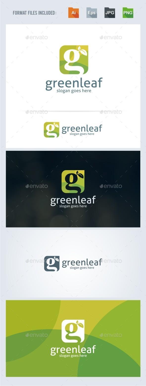 Green Leaf - G Letter Logo Template - Nature Logo Templates