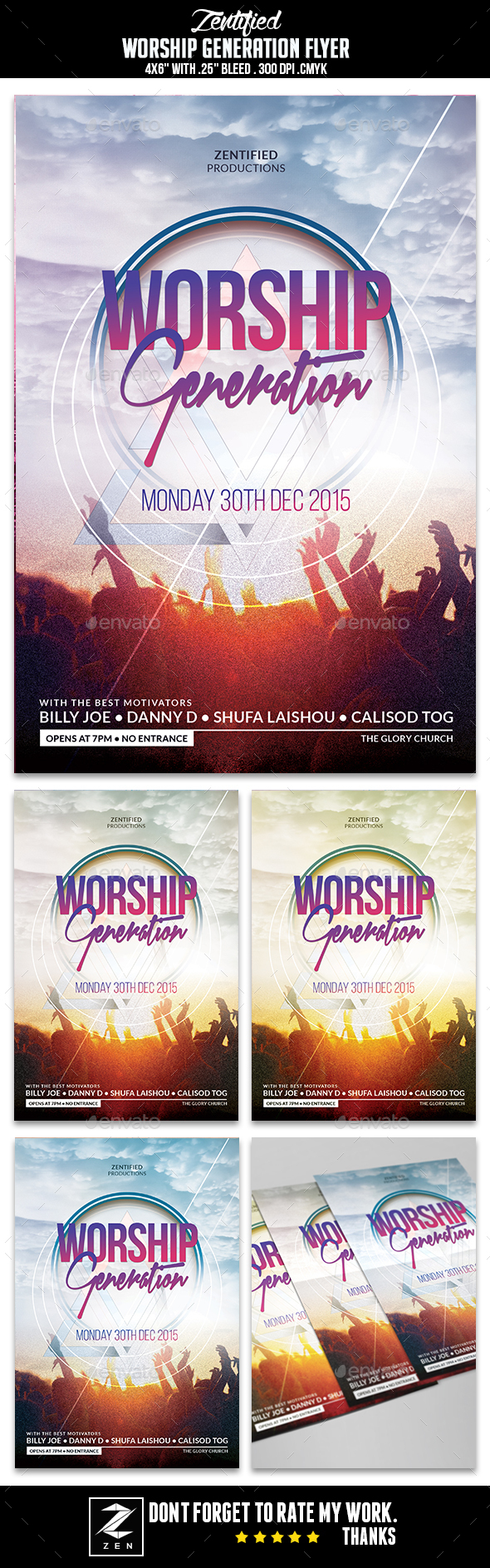 Worship Generation Flyer - Flyers Print Templates