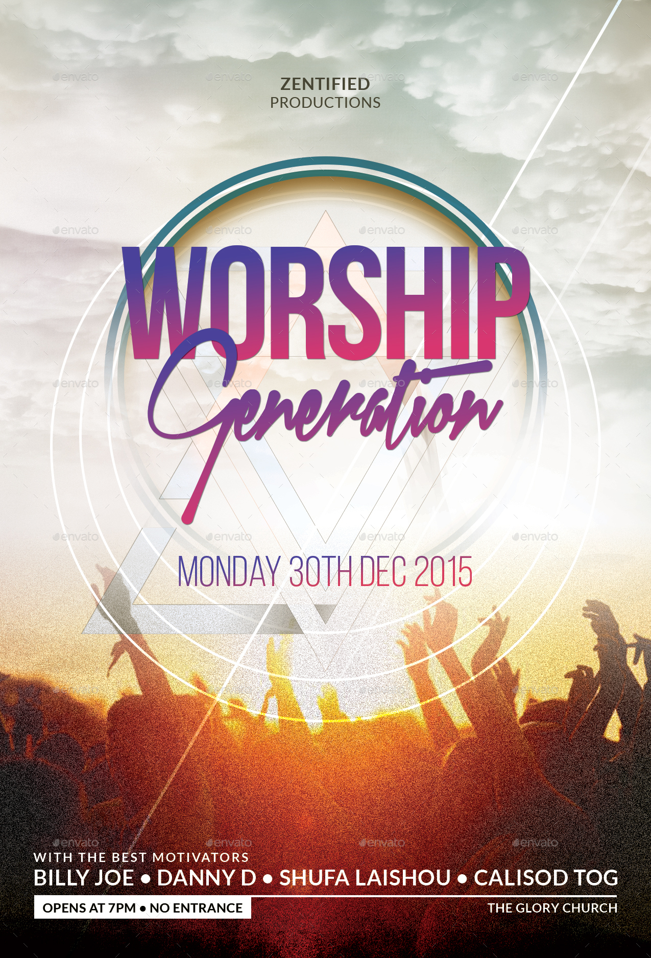 worship generation flyer by zentify