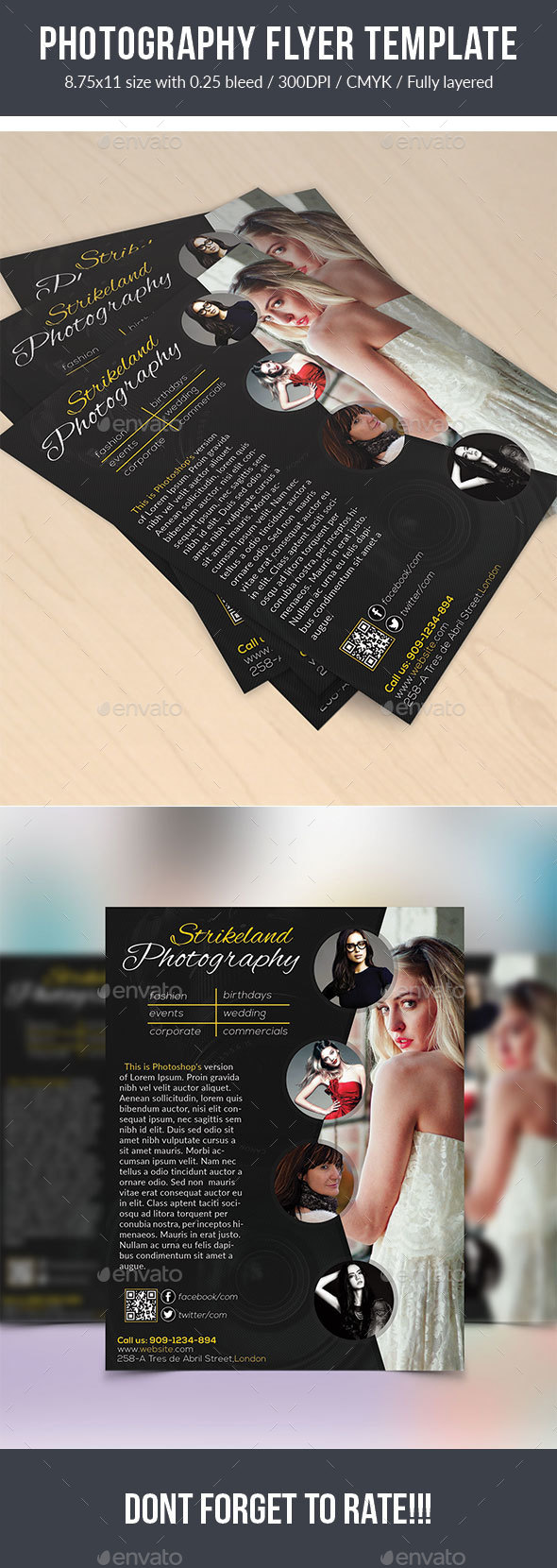 Photography Flyer Template - Flyers Print Templates