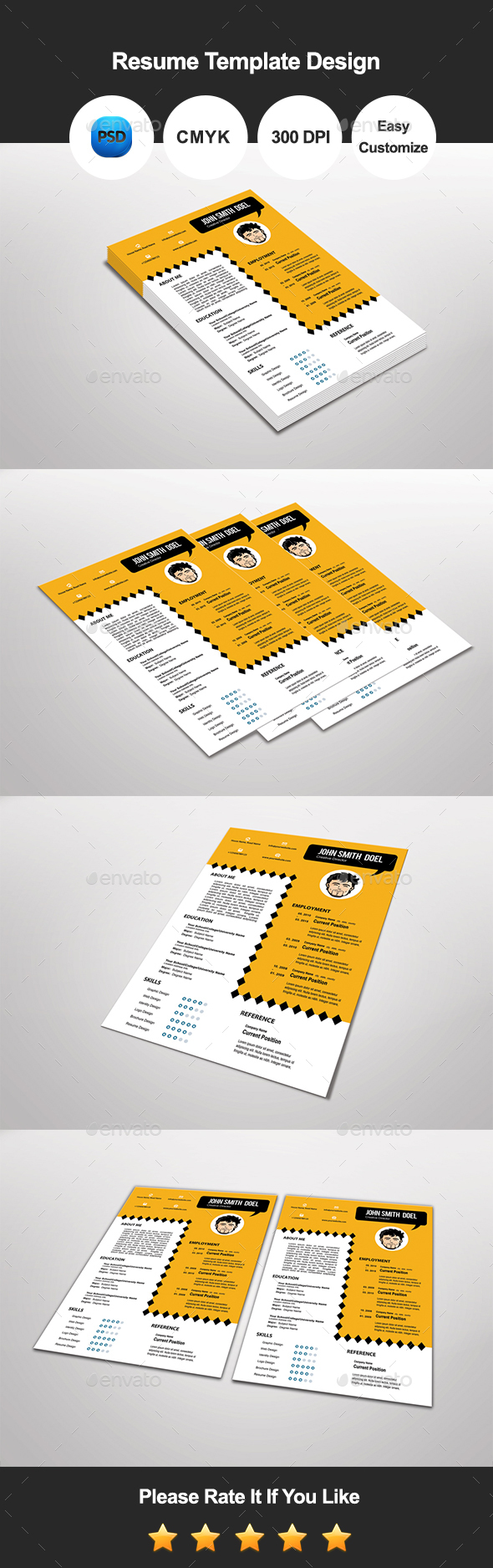 Orala Resume Template Design - Resumes Stationery