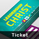 Leadership with Christ Registration Ticket - GraphicRiver Item for Sale