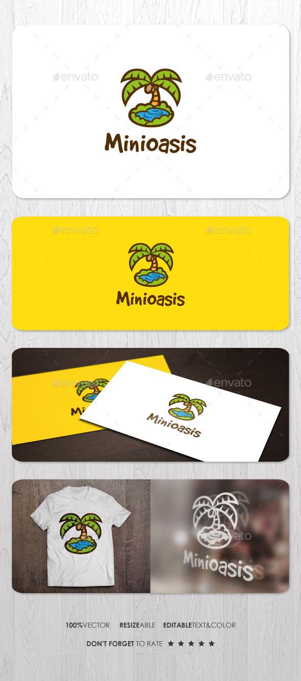 Mini Oasis Logo - Nature Logo Templates