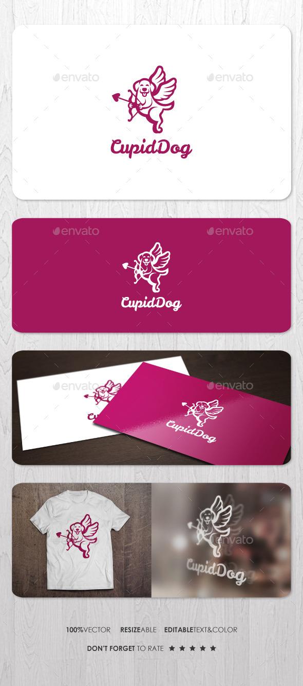 Cupid Dog Logo - Animals Logo Templates
