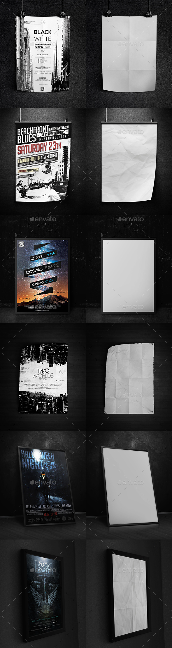 Dark Poster Mock-Up - Posters Print