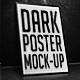 Dark Poster Mock-Up - GraphicRiver Item for Sale