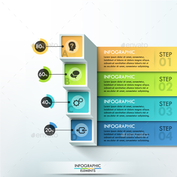 3d Modern Infographic Options Banner - Infographics