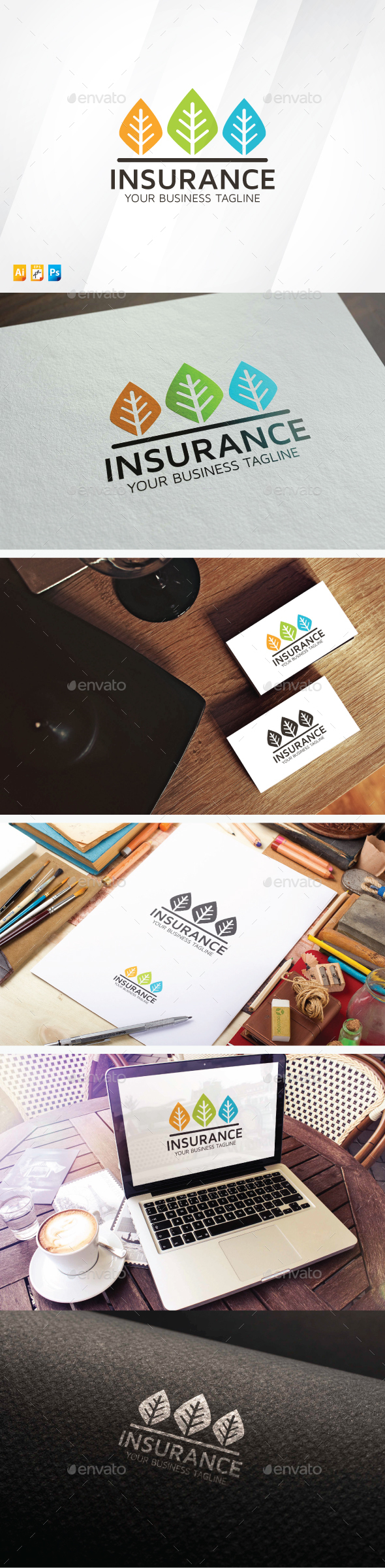 Tree Insurance - Nature Logo Templates