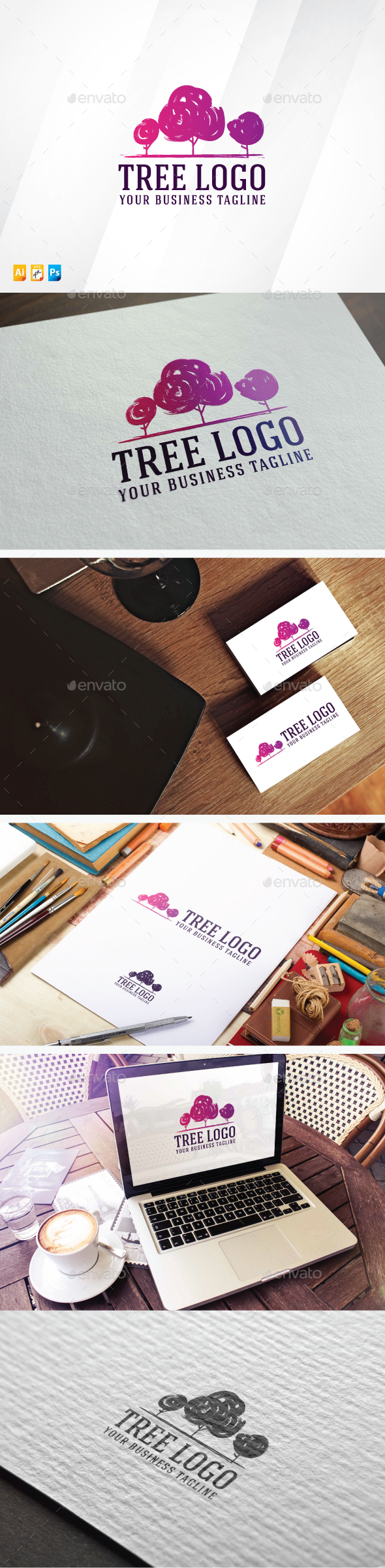 Tree Logo - Abstract Logo Templates