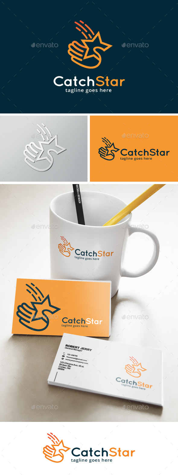 Catch a Star Logo - Objects Logo Templates