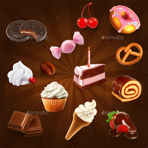 Confectionery Icons - Vectors