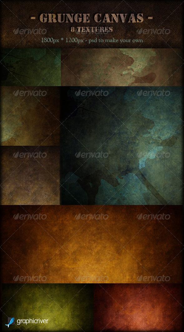 Grunge Canvas Textures - Industrial / Grunge Textures