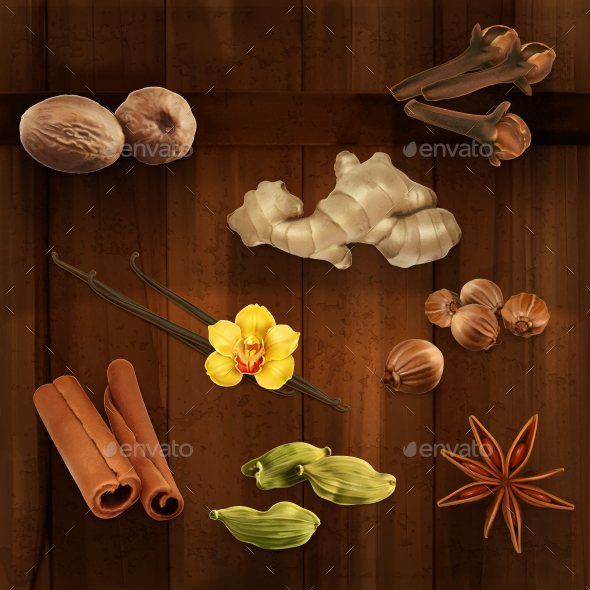 Spices Icons - Vectors