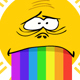 Cartoon Sun with Rainbow Mouth - GraphicRiver Item for Sale