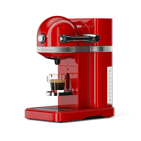 Red Espresso Machine - 3DOcean Item for Sale